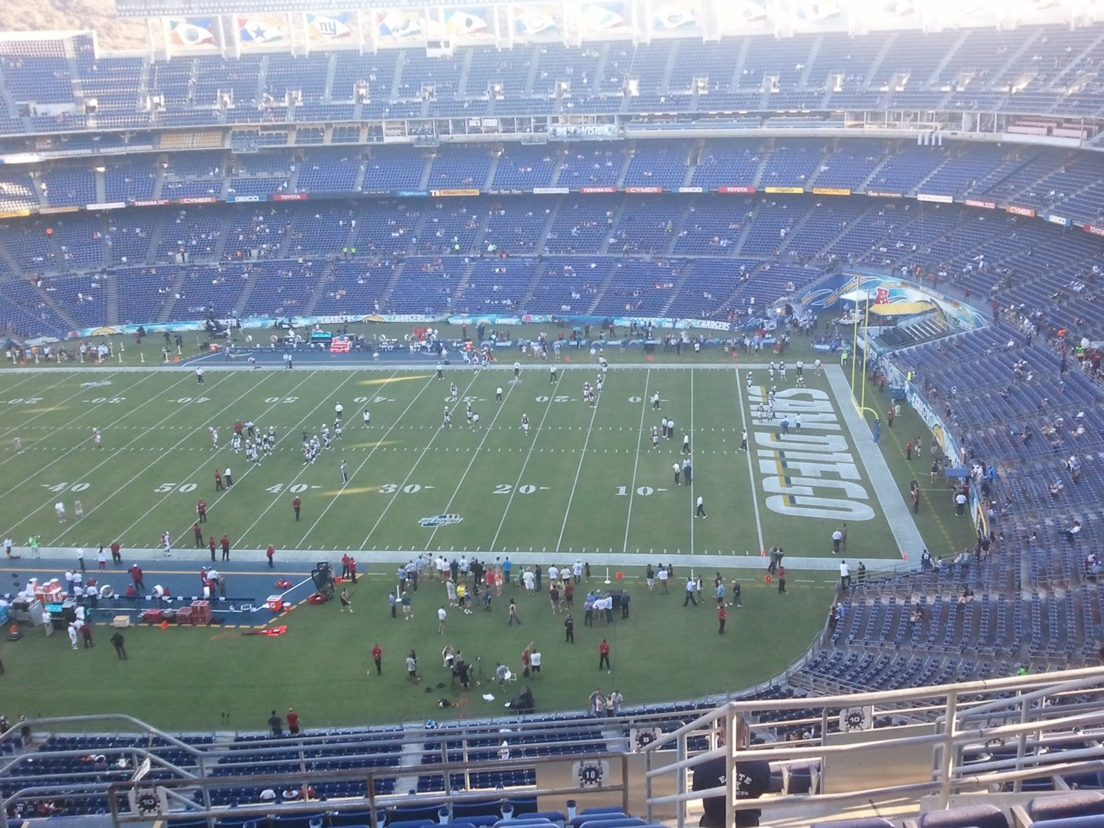 Seat View for Qualcomm Stadium View Level 10V, Row 13, Seat 6