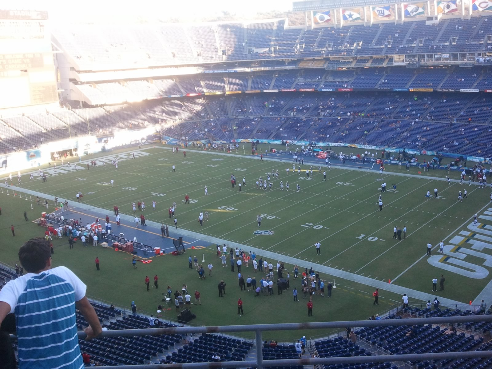 Seat View for Qualcomm Stadium View Level 13V, Row 4, Seat 3