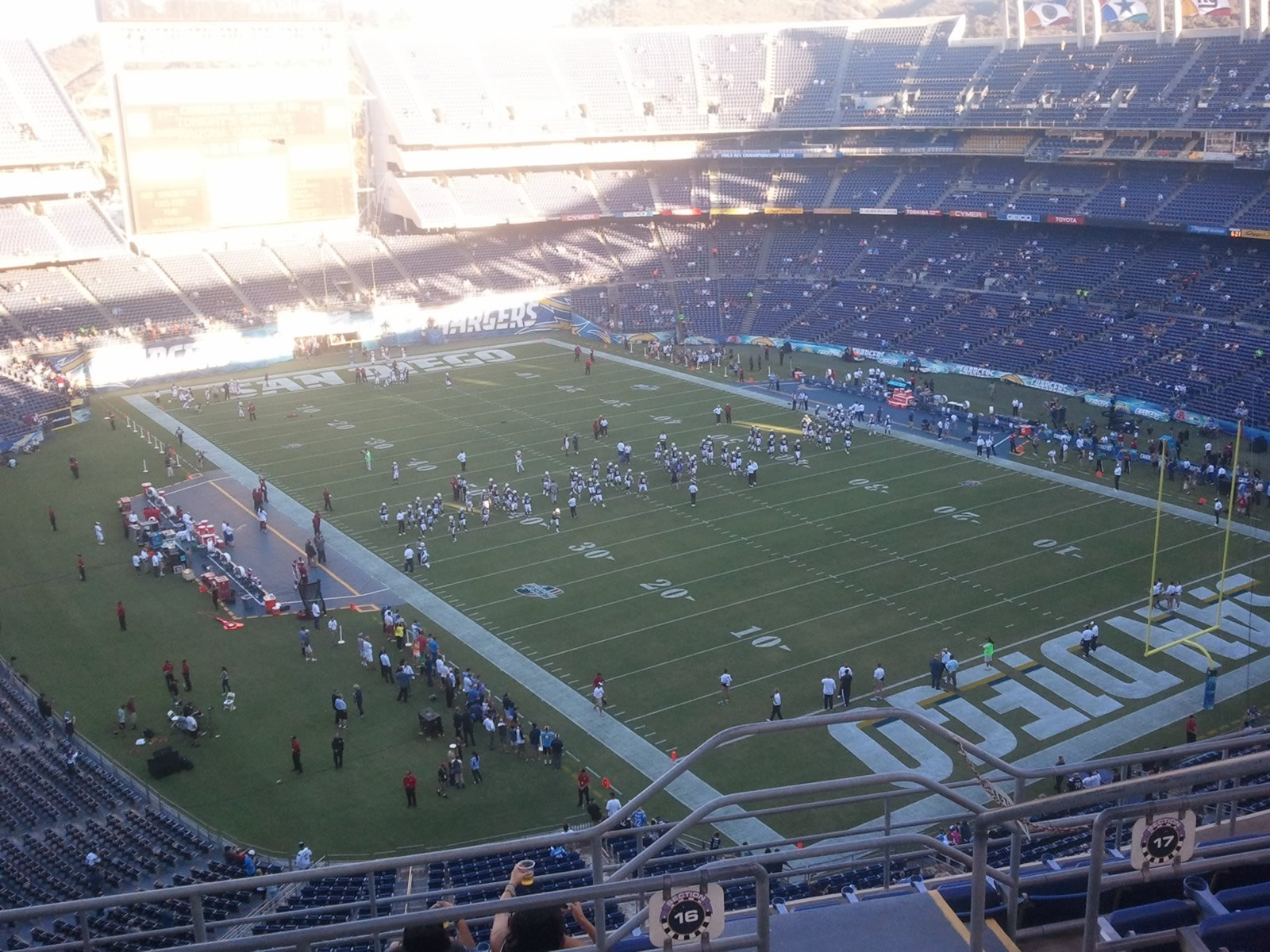 Seat View for SDCCU Stadium View Level 16V, Row 9, Seat 16