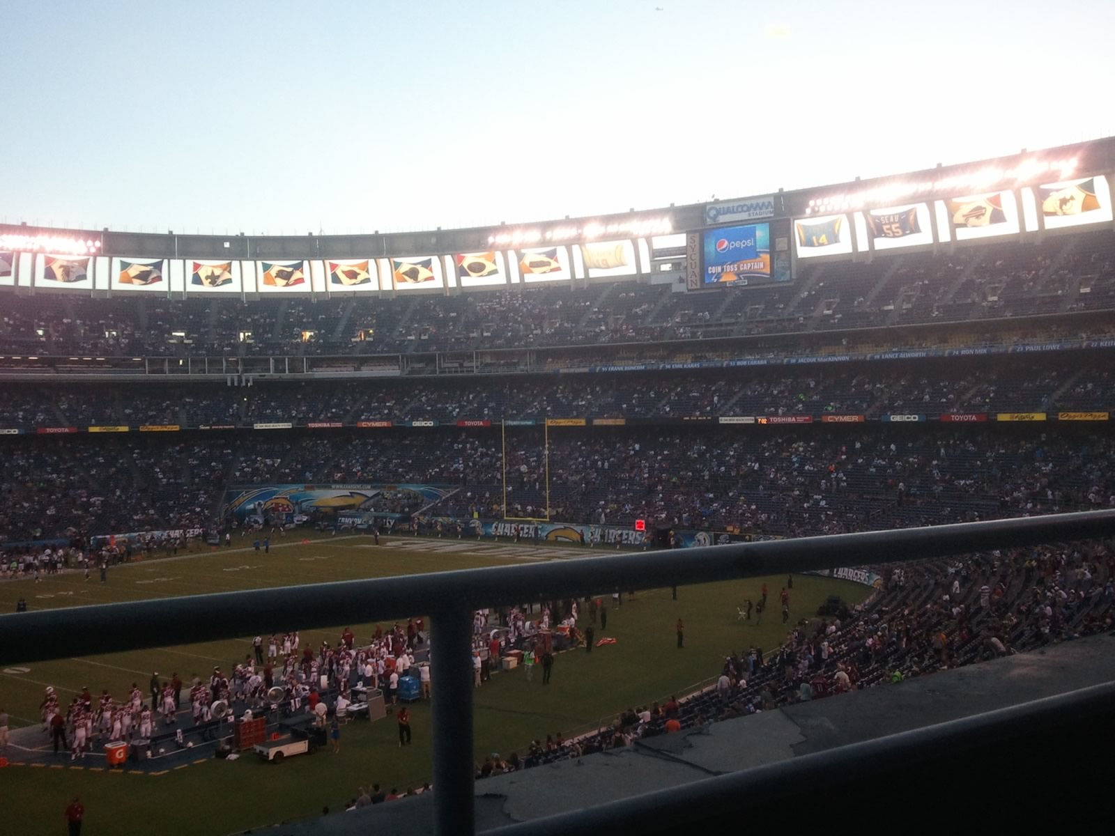 Seat View for SDCCU Stadium Club 1, Row 1, Seat 9