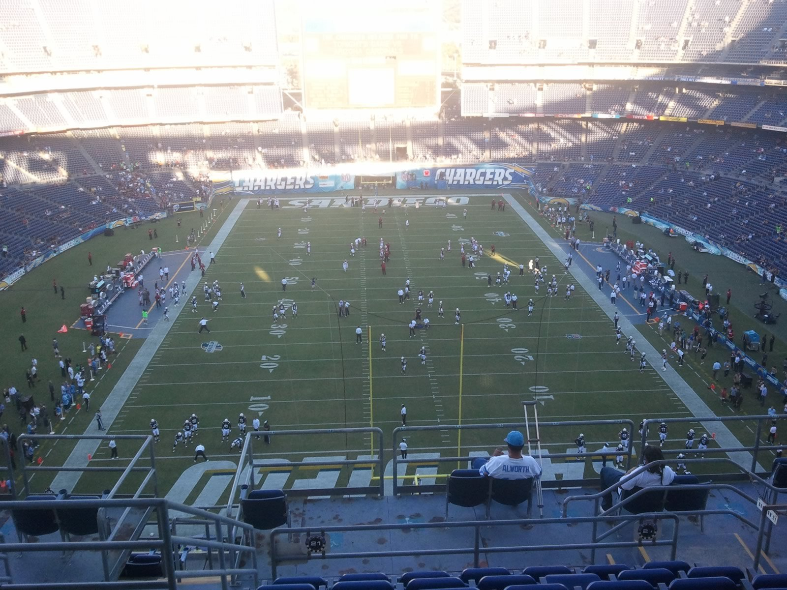 Seat View for Qualcomm Stadium View Level 21V, Row 12, Seat 15