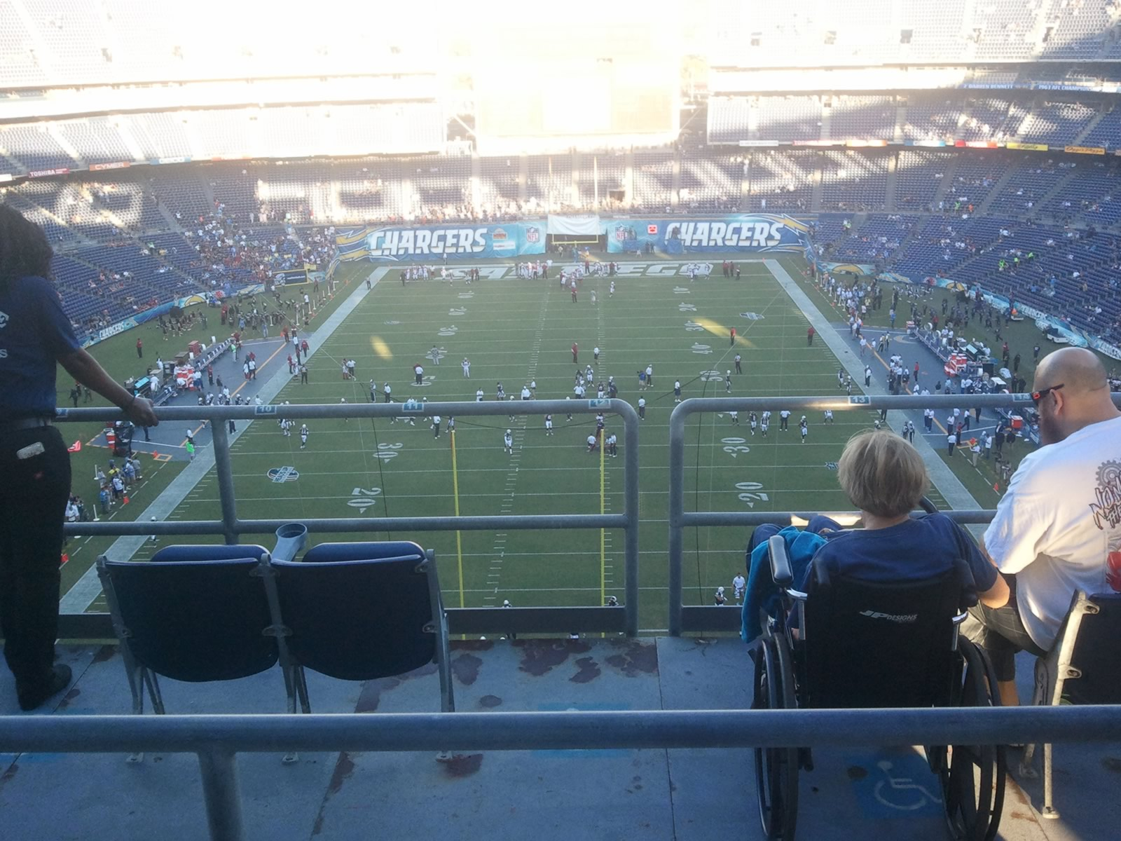 Seat View for Qualcomm Stadium View Level 22V, Row 6, Seat 5