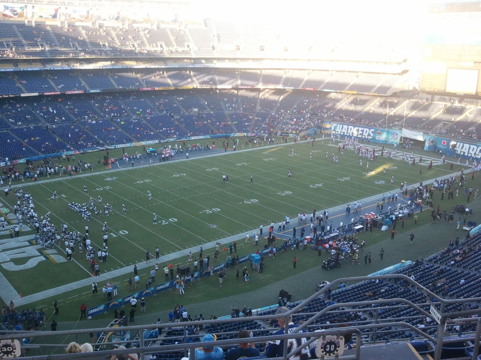 Seat View for Qualcomm Stadium View Level 30V, Row 9, Seat 15