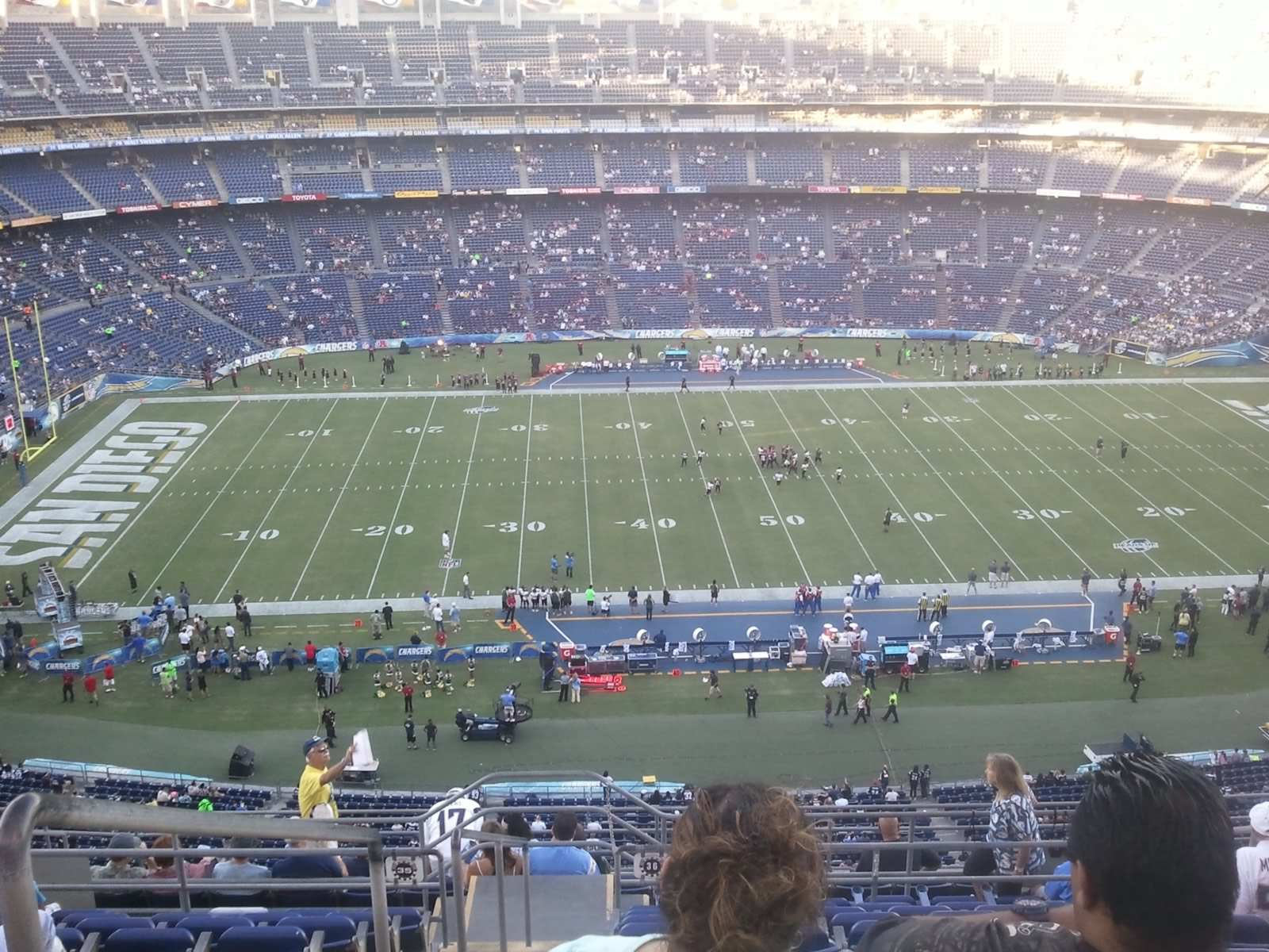 Seat View for Qualcomm Stadium View Level 36V, Row 14, Seat 1