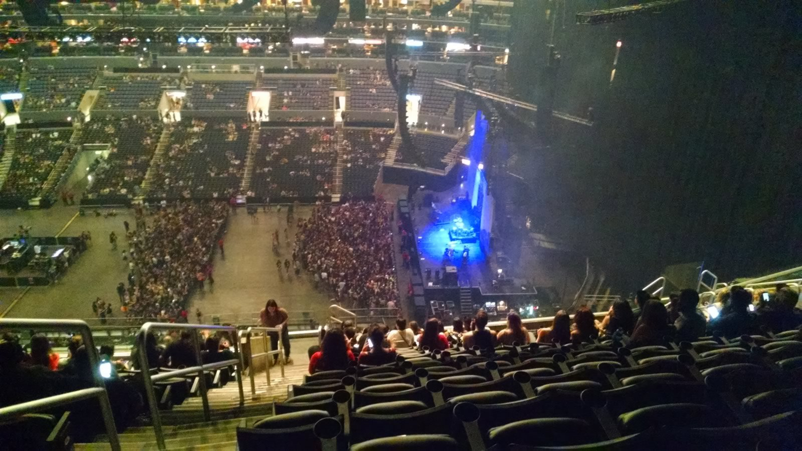 Concert Seat View for Staples Center Section 333, Row 15, Seat 22