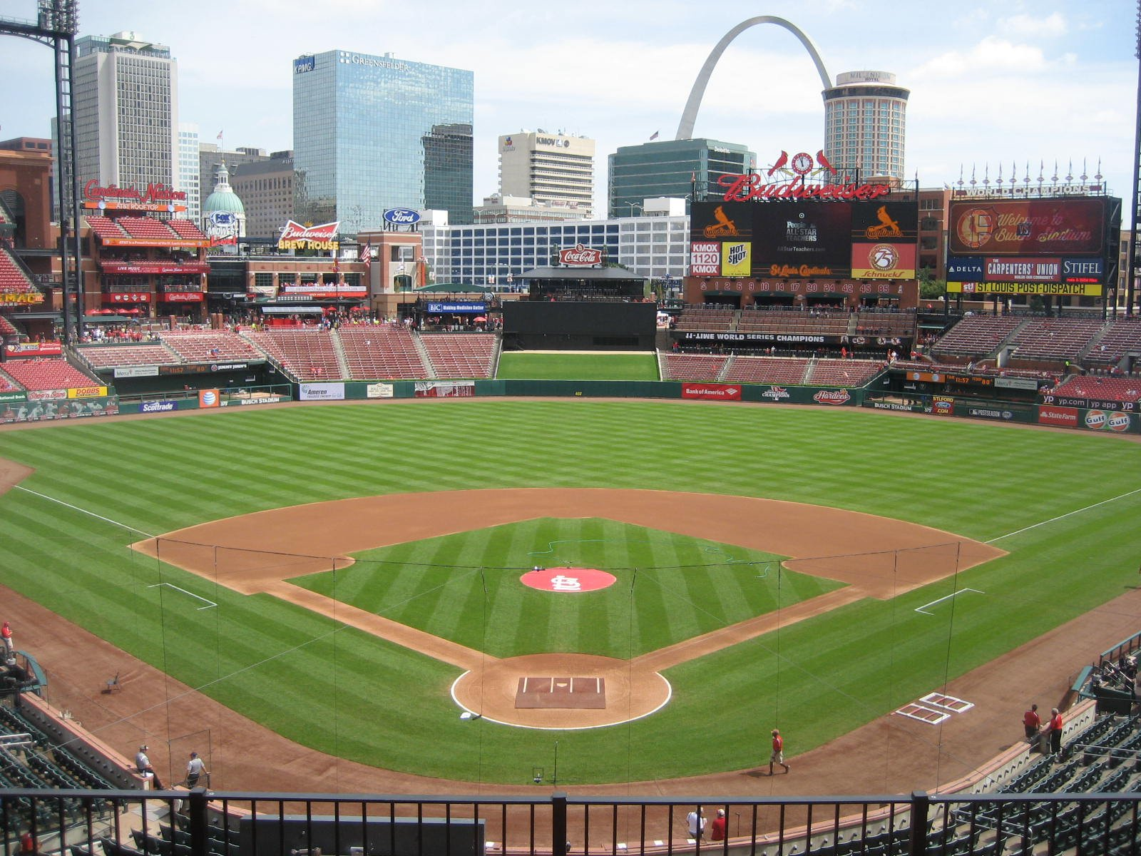 Seat View for Busch Stadium Section 250, Row 5, Seat 9