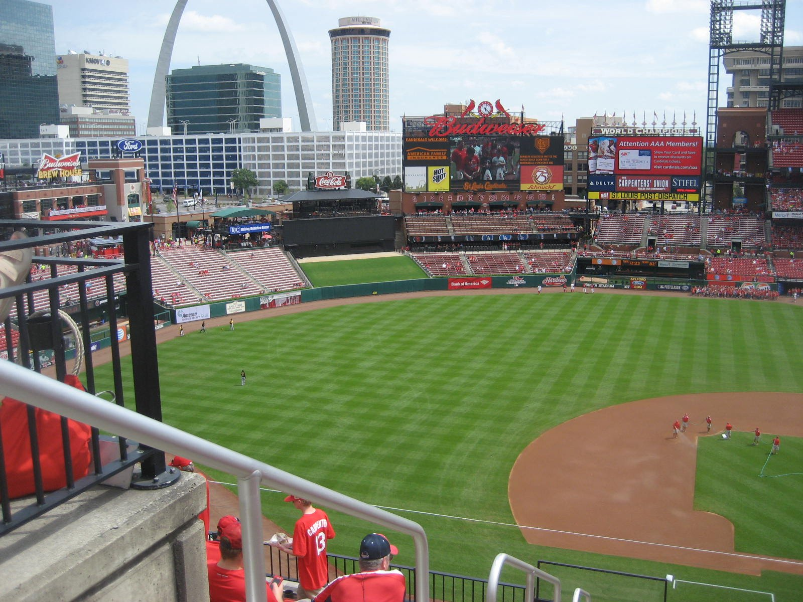 Seat View for Busch Stadium Section 356, Row 9, Seat 20