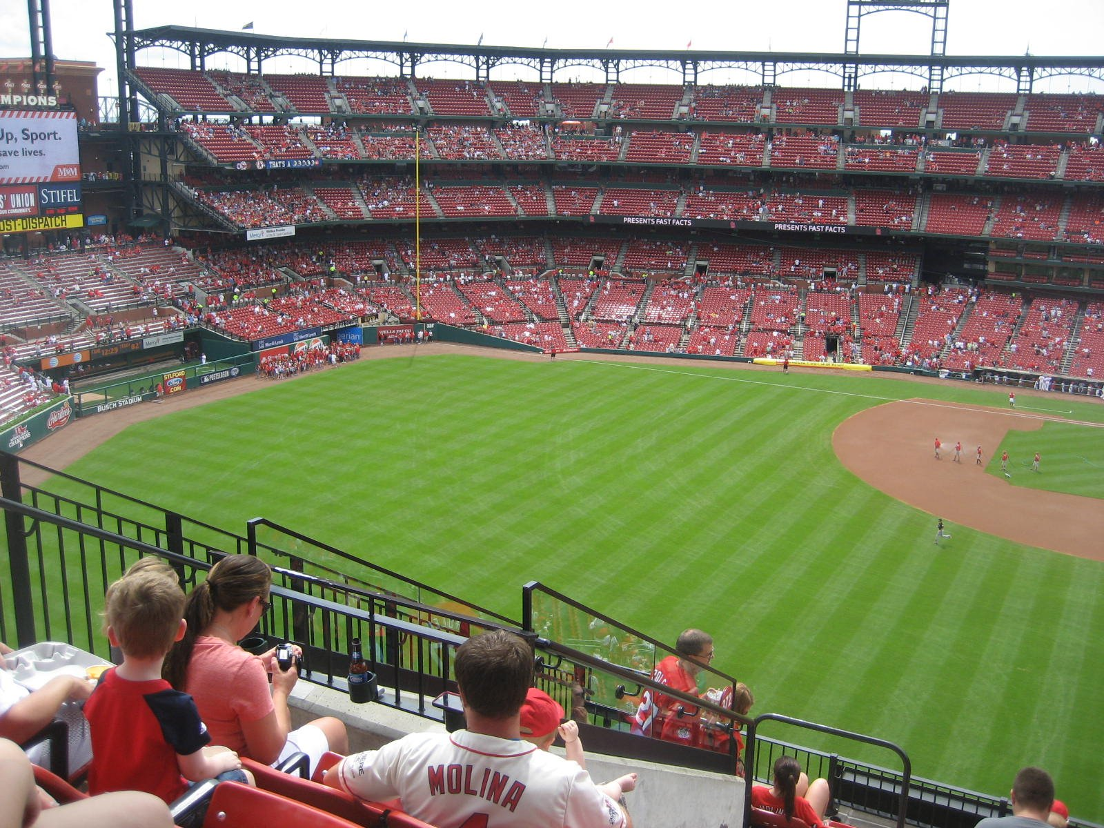 Seat View for Busch Stadium Section 372, Row 10, Seat 20