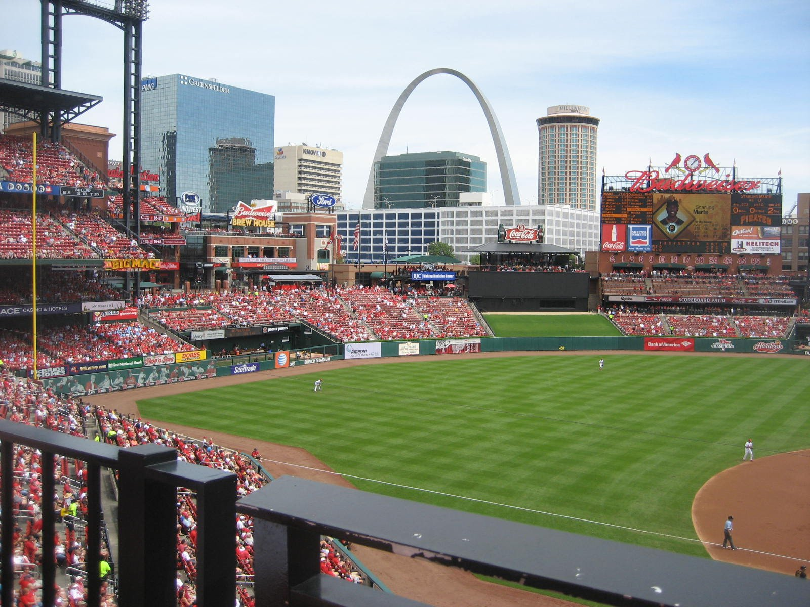 Seat View for Busch Stadium Section 257, Row 1, Seat 5