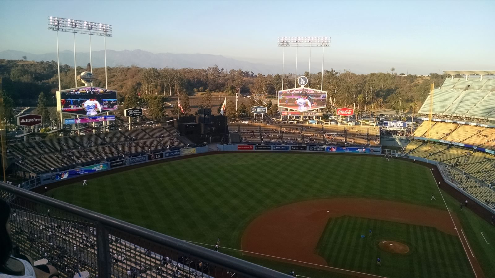 Seat View for Dodger Stadium Top Deck 13, Row B, Seat 13