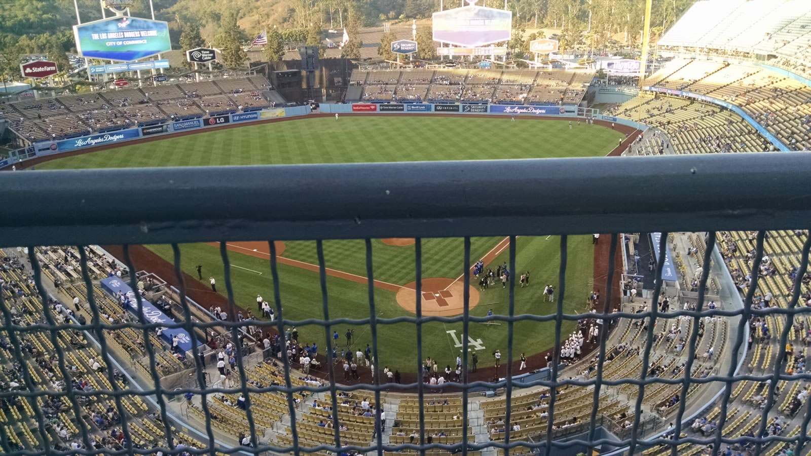 Seat View for Dodger Stadium Top Deck 5, Row A, Seat 5