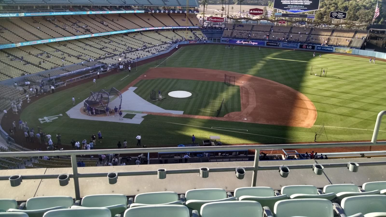 Seat View for Dodger Stadium Infield Reserve 16, Row D, Seat 14