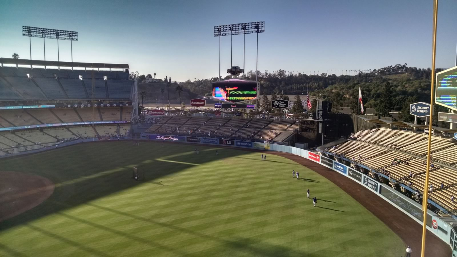 Seat View for Dodger Stadium Lower Reserve 40, Row E, Seat 9