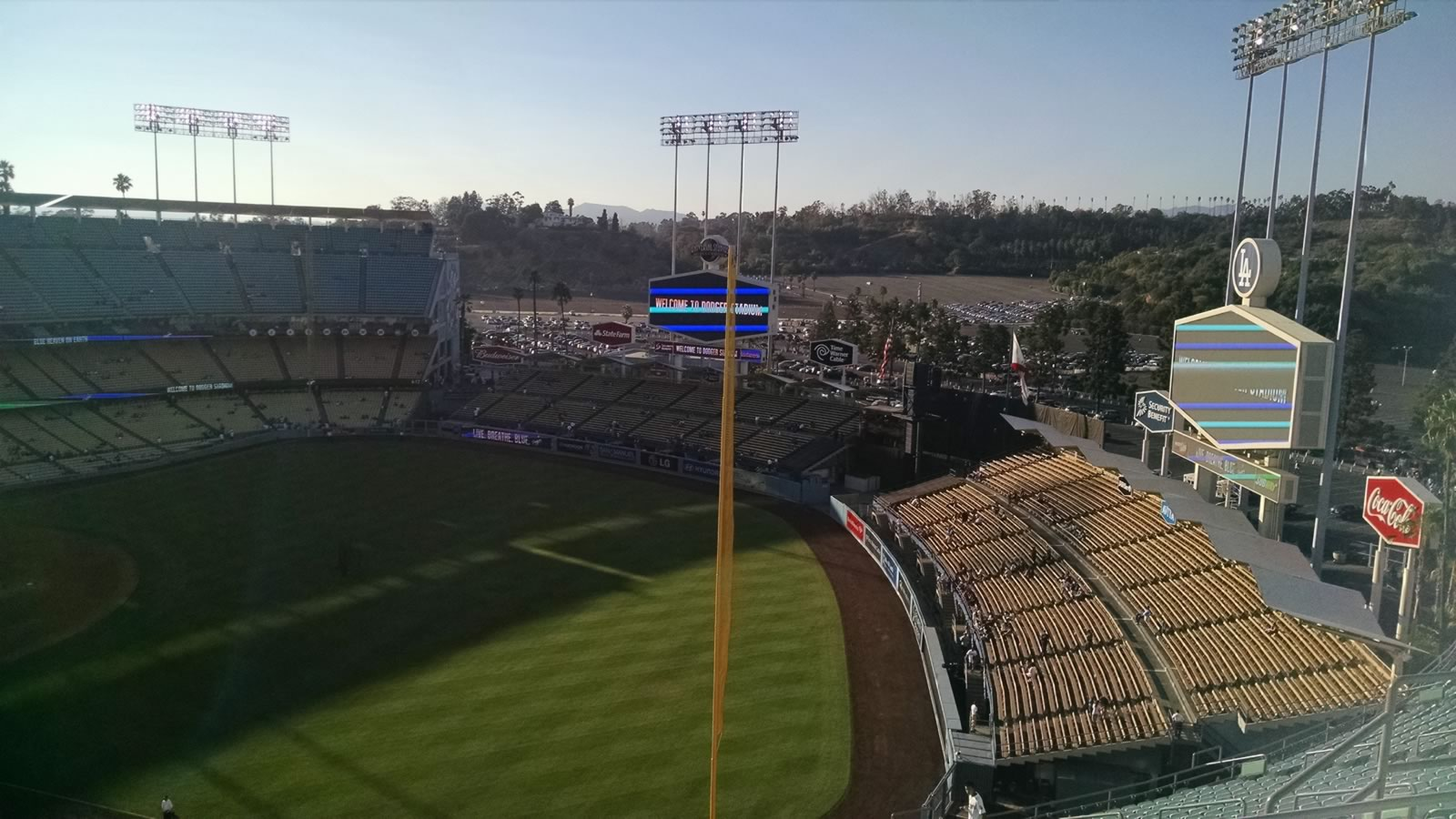 Seat View for Dodger Stadium Reserve 42, Row EE, Seat 14