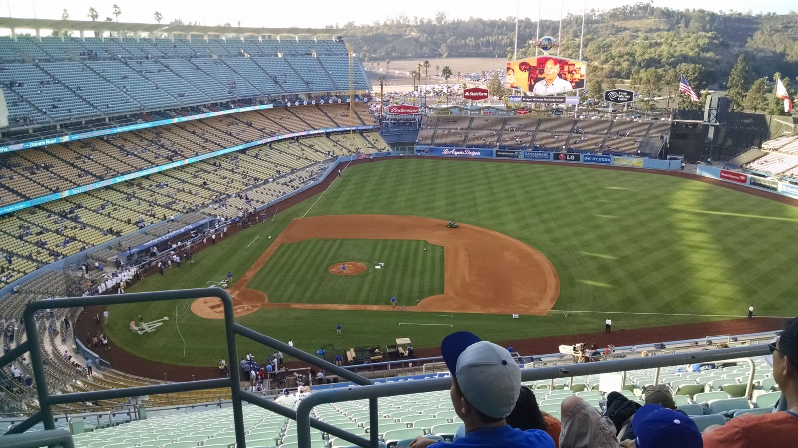 Seat View for Dodger Stadium Reserve 14, Row CC, Seat 1