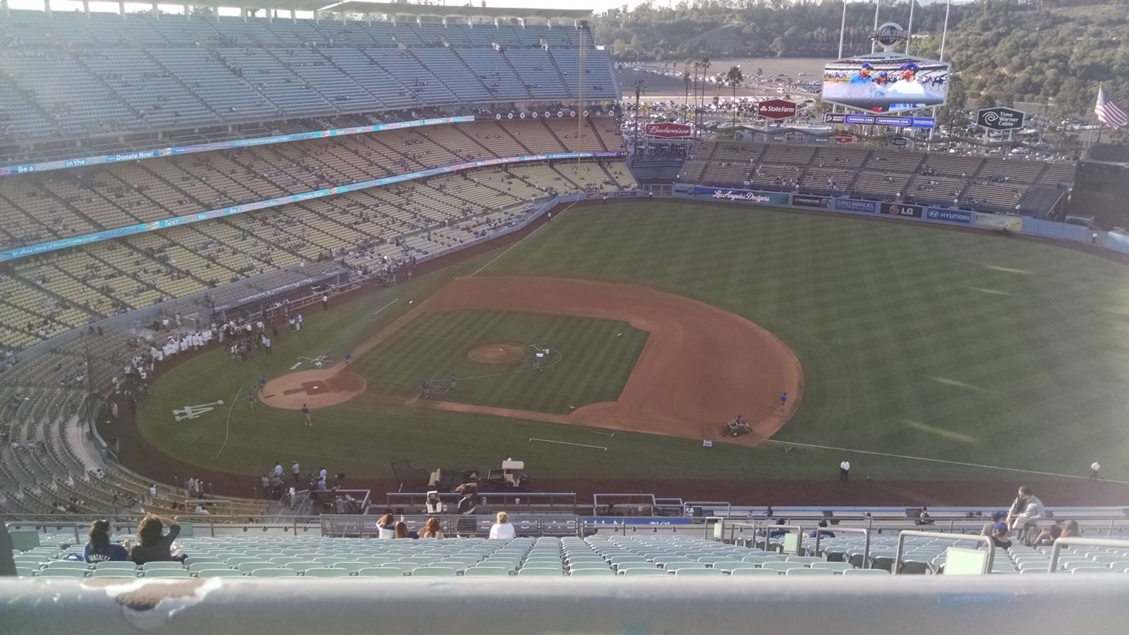 Seat View for Dodger Stadium Reserve 18, Row AA, Seat 4
