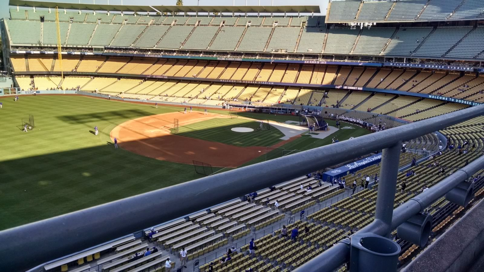 Seat View for Dodger Stadium Lower Reserve 39, Row A, Seat 6