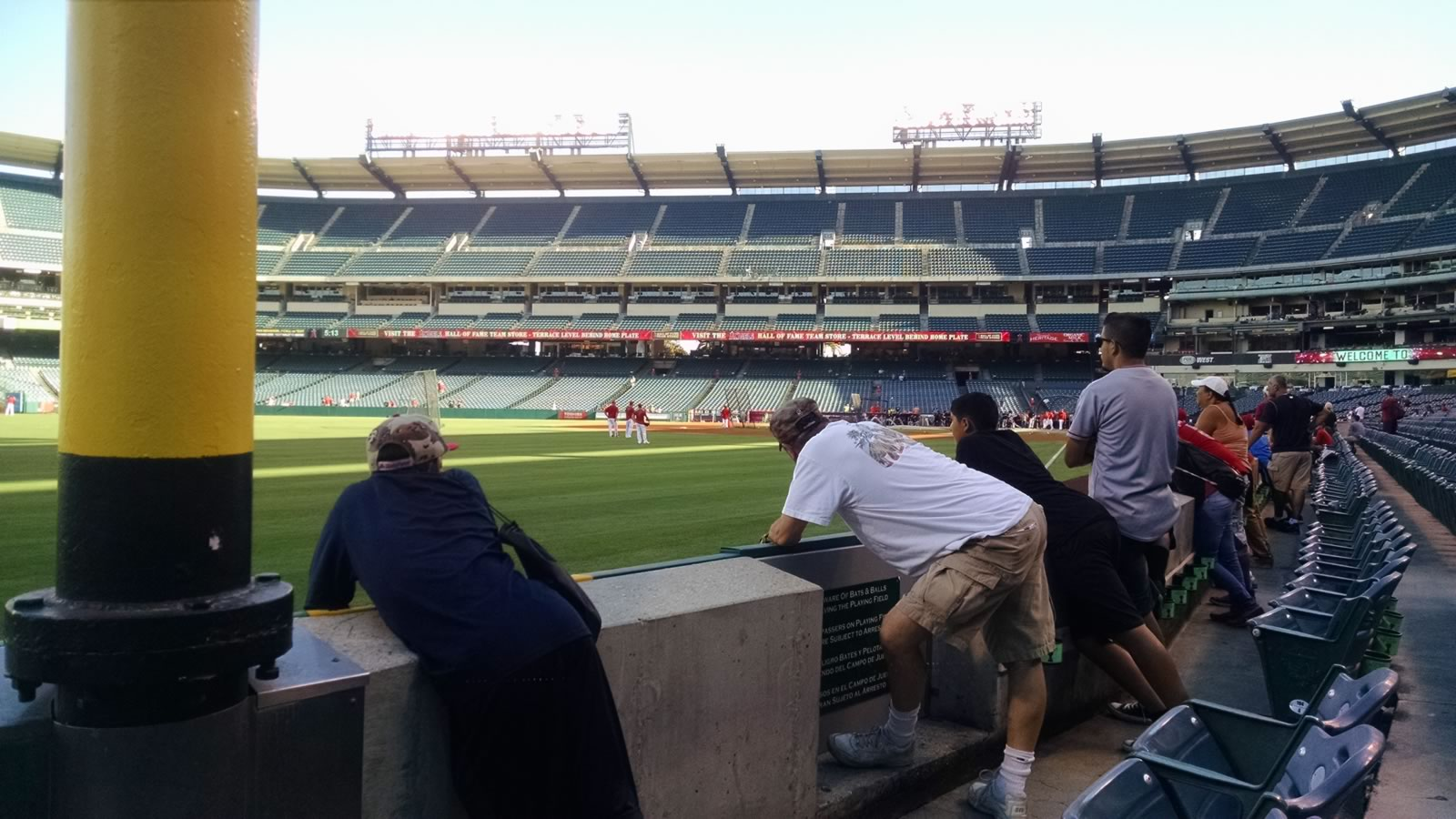 Seat View for Angel Stadium Section 103, Row B, Seat 7