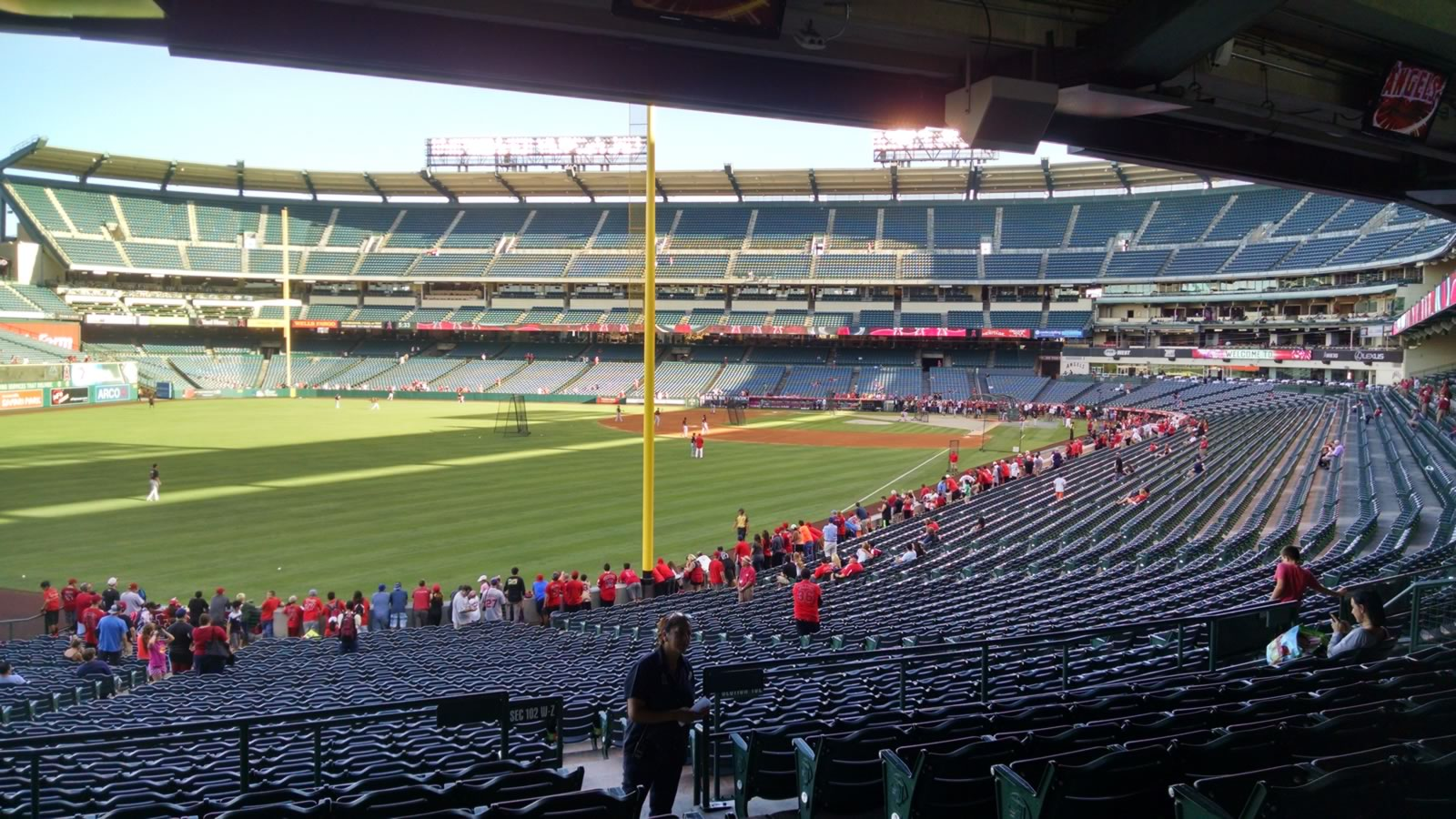 Seat View for Angel Stadium Section 202, Row H, Seat 17