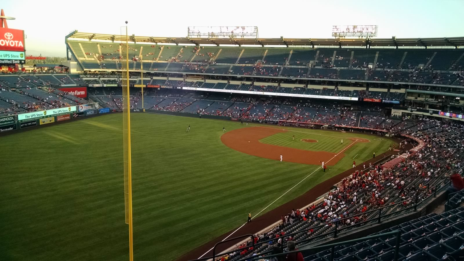 Seat View for Angel Stadium Section 404, Row S, Seat 11