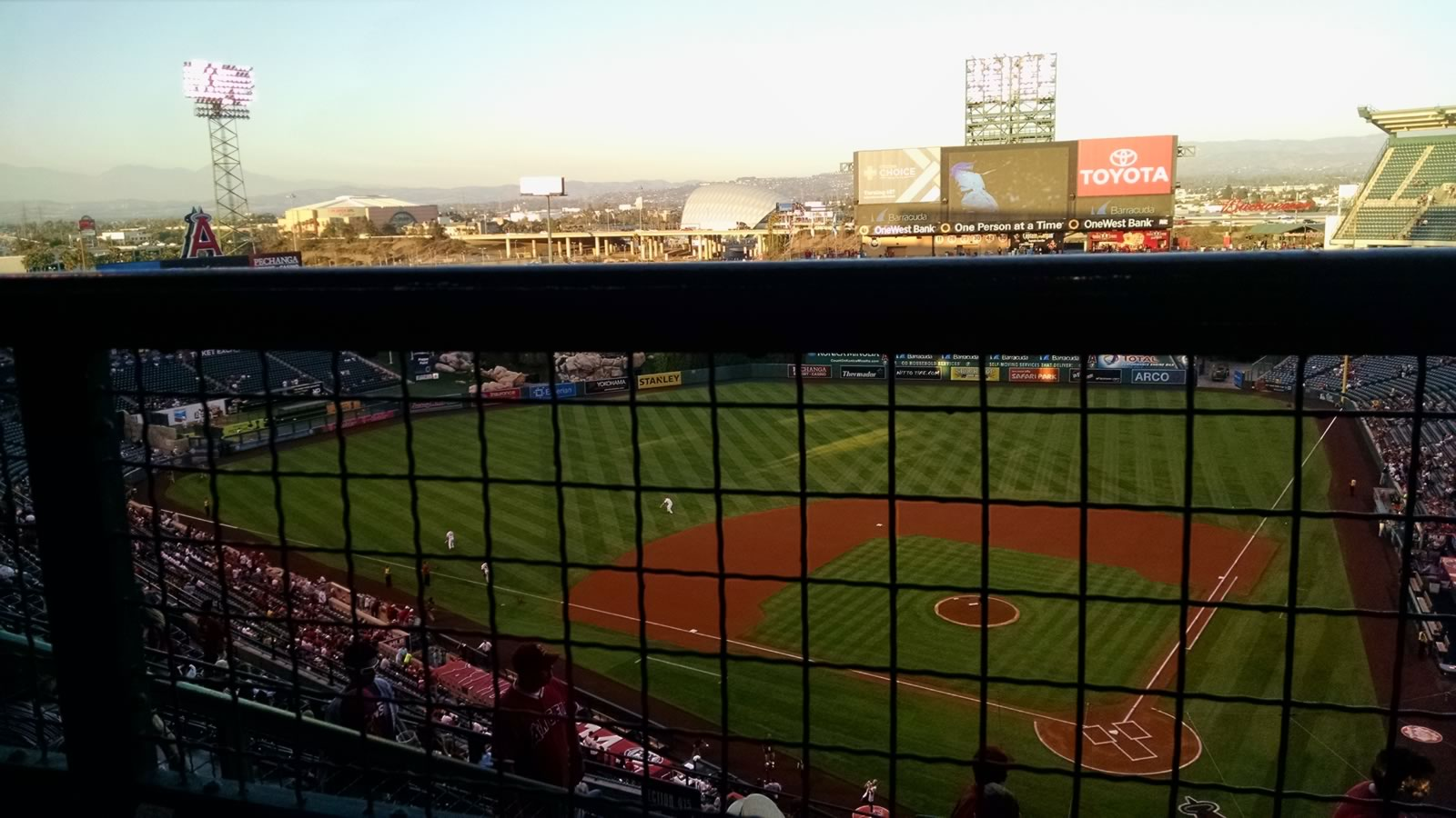 Seat View for Angel Stadium Section 517, Row E, Seat 19
