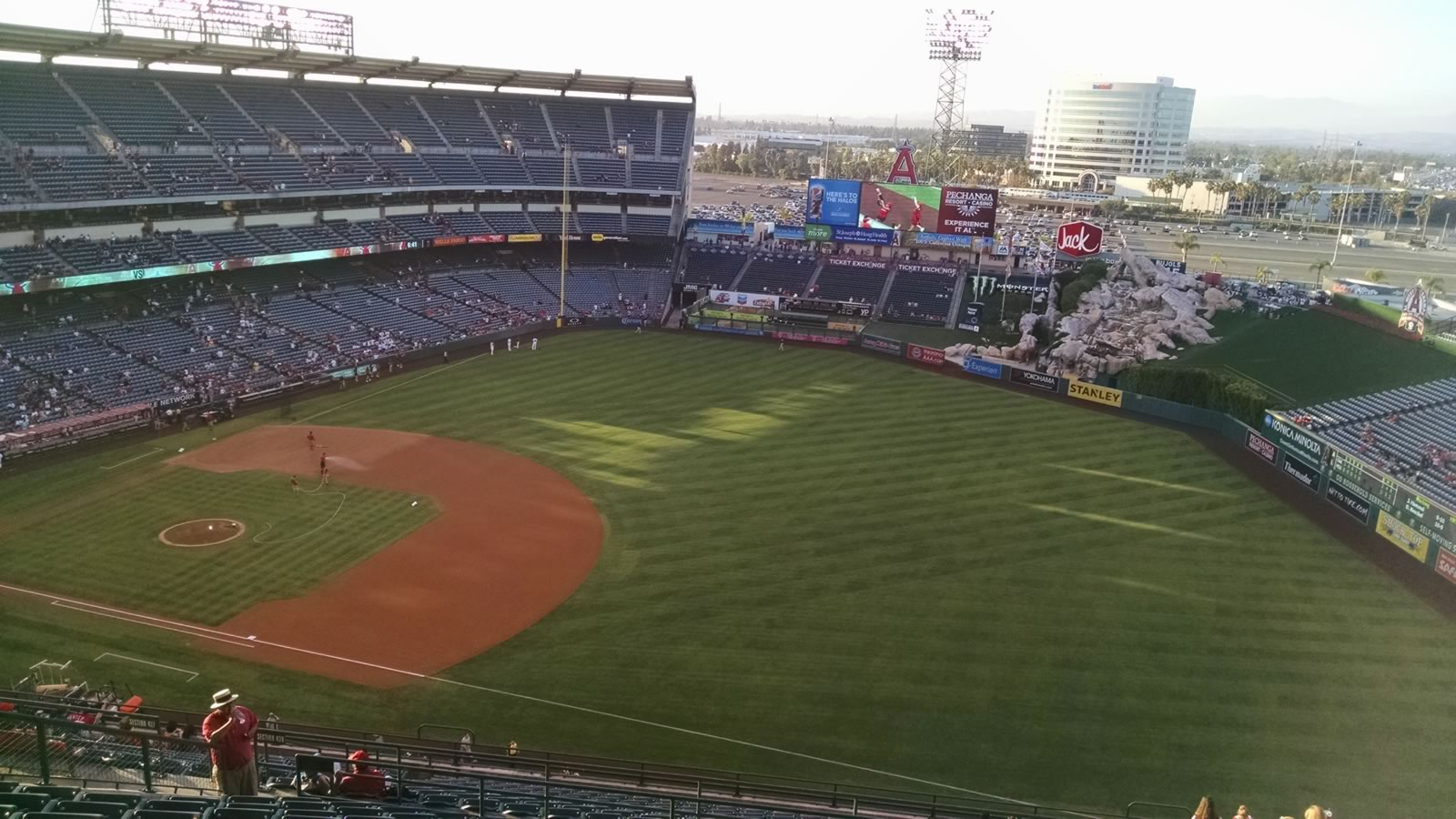 Seat View for Angel Stadium Section 531, Row M, Seat 17
