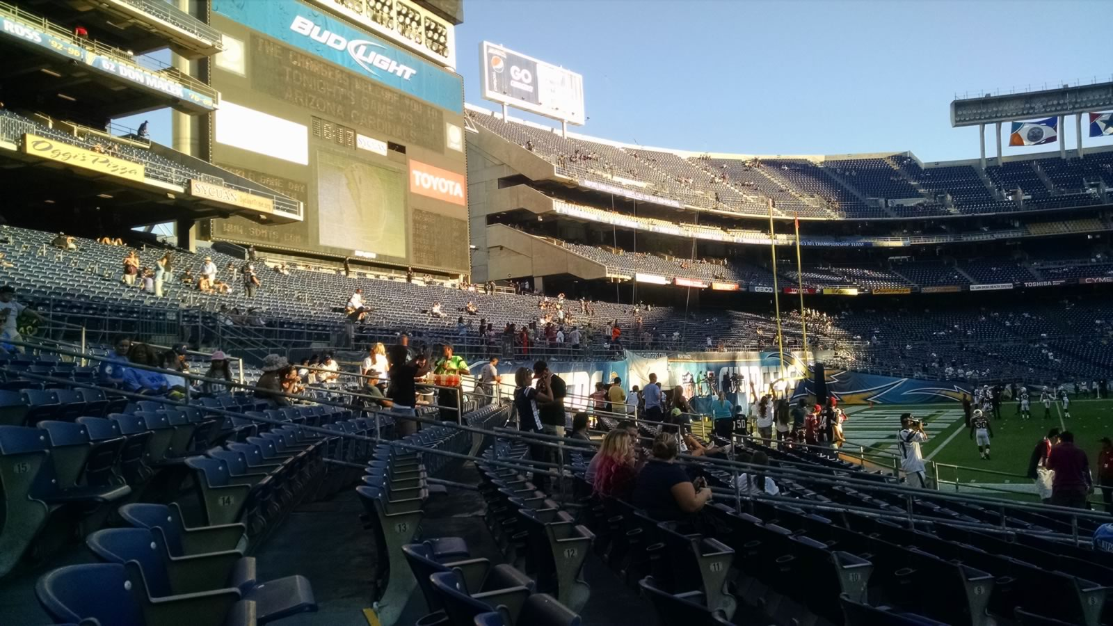Seat View for Qualcomm Stadium Field 1