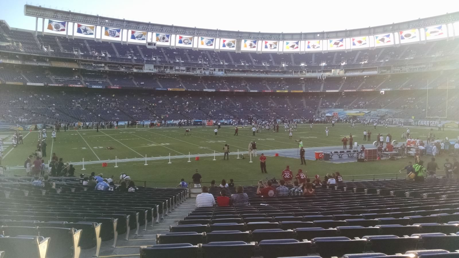 Seat View for SDCCU Stadium Field 2, Row 24, Seat 2