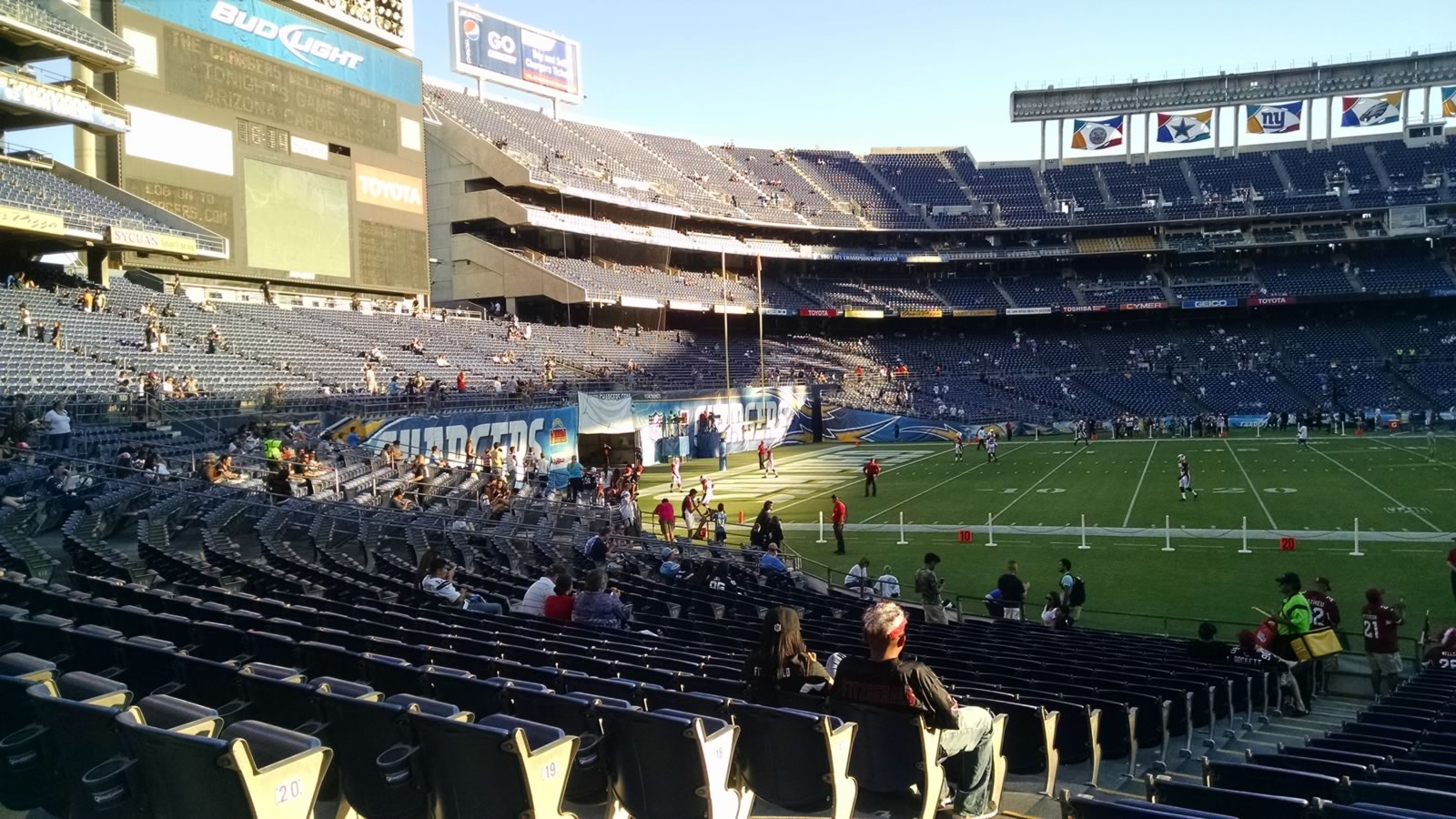 Seat View for Qualcomm Stadium Field 3, Row 22, Seat 3