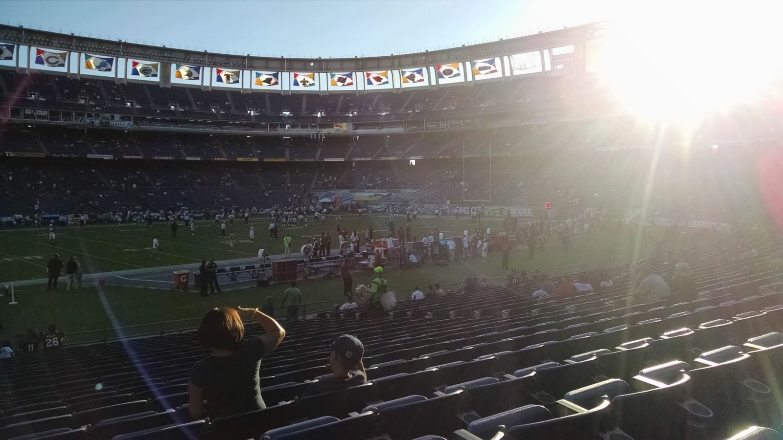 Seat View for SDCCU Stadium Field 3, Row 22, Seat 3