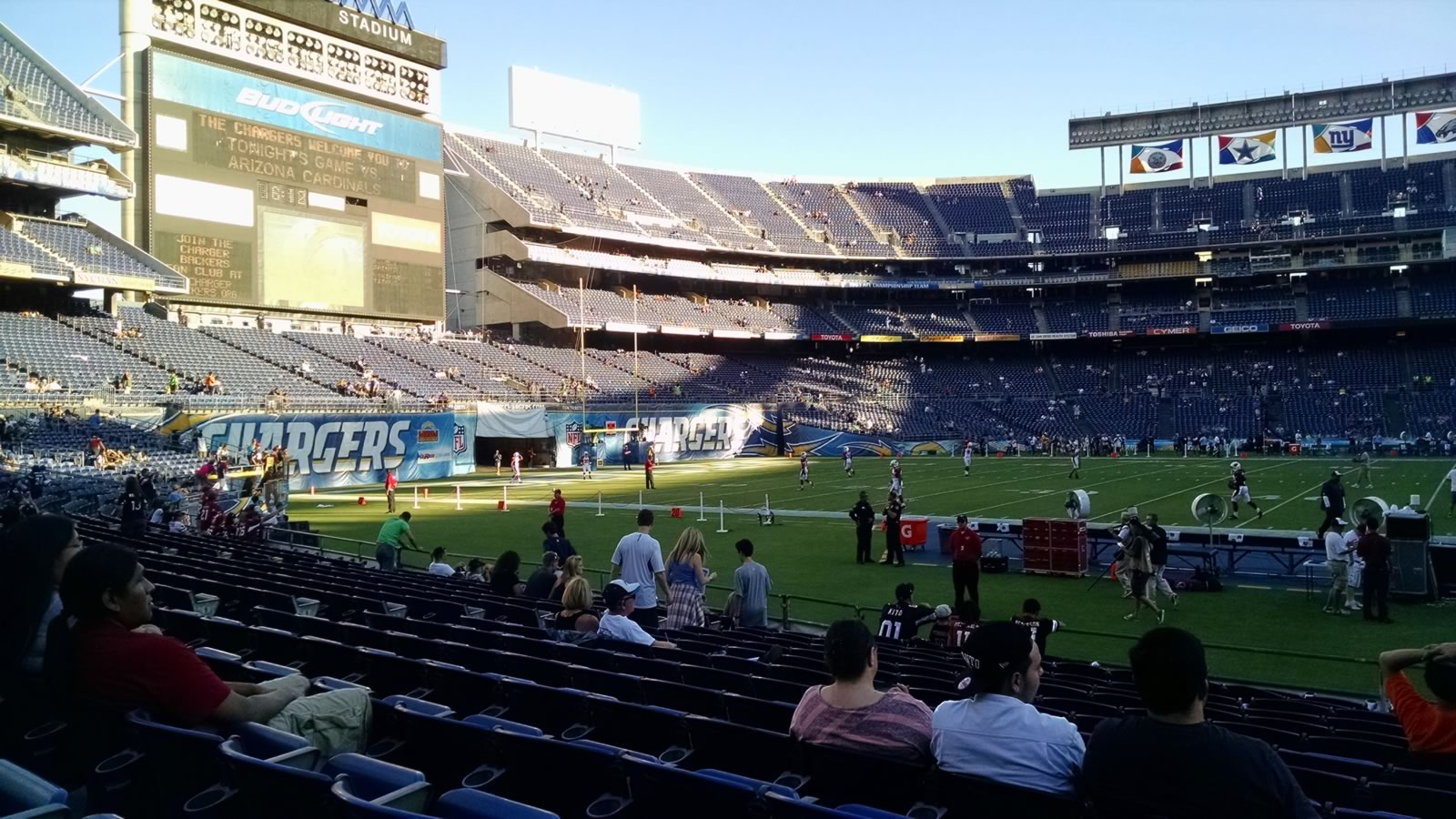 Seat View for SDCCU Stadium Field 5, Row 14, Seat 16