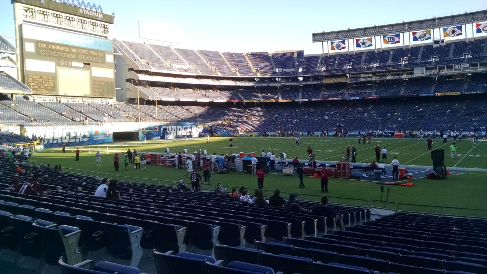 Seat View for Qualcomm Stadium Field 8
