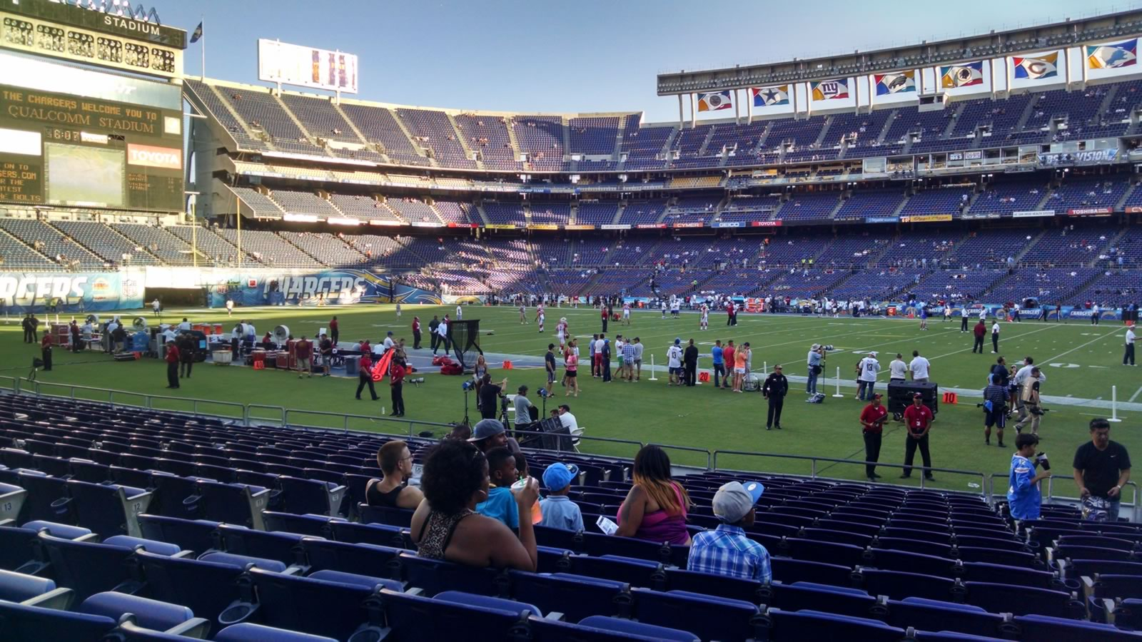 Seat View for Qualcomm Stadium Field 10, Row 17, Seat 8
