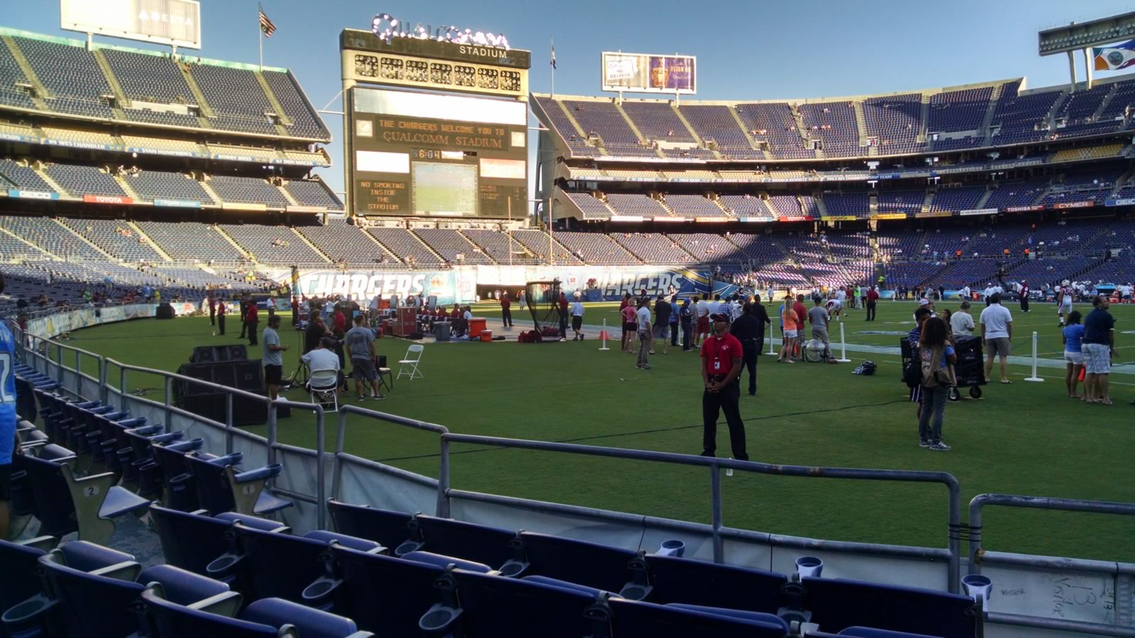 Seat View for Qualcomm Stadium Field 11, Row 5, Seat 8