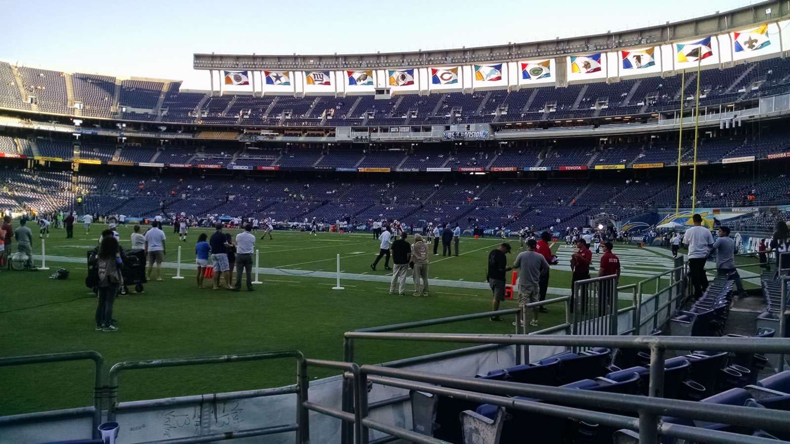 Seat View for SDCCU Stadium Field 11, Row 5, Seat 8