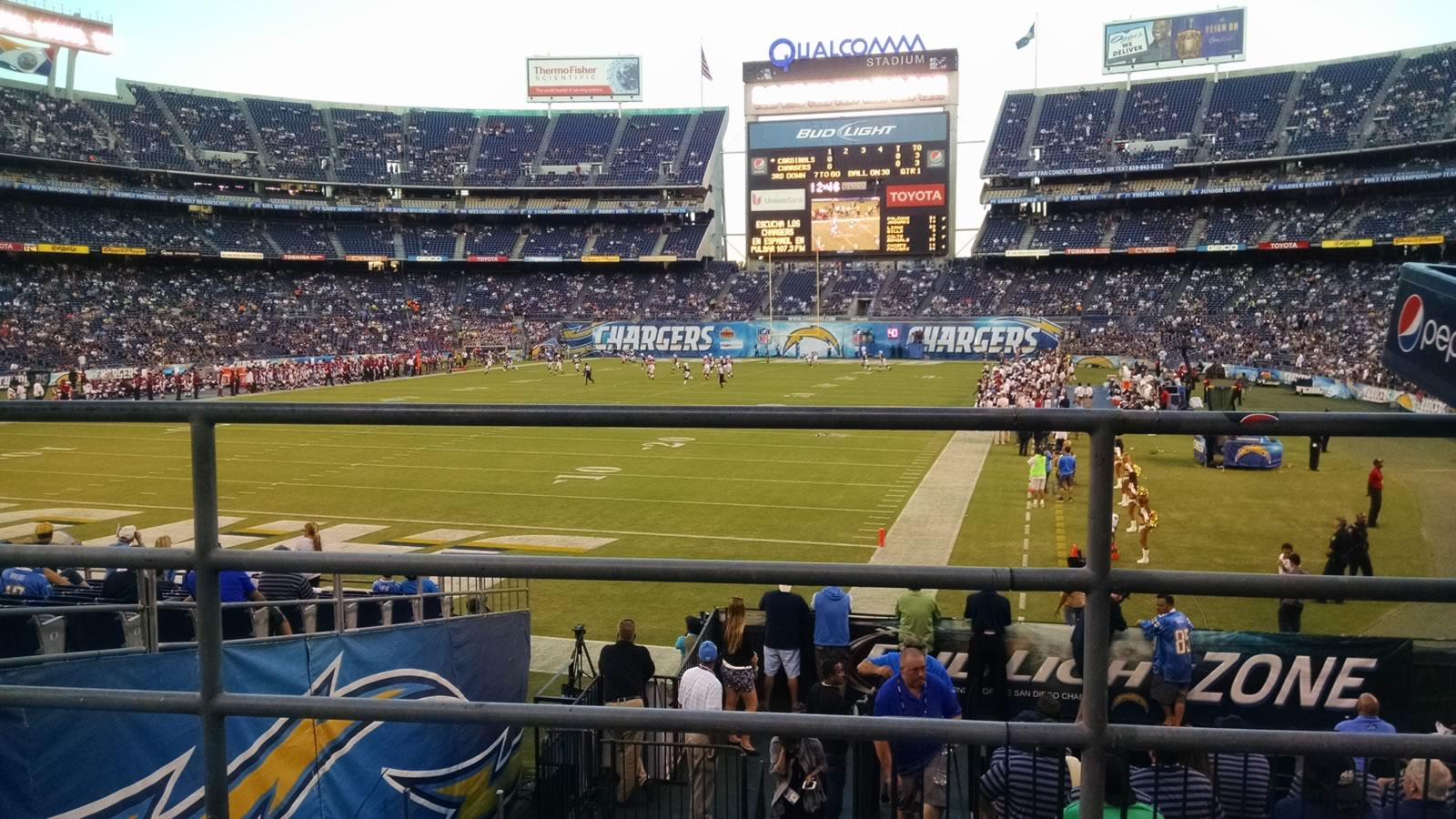 Seat View for SDCCU Stadium Plaza 24, Row 1, Seat 8