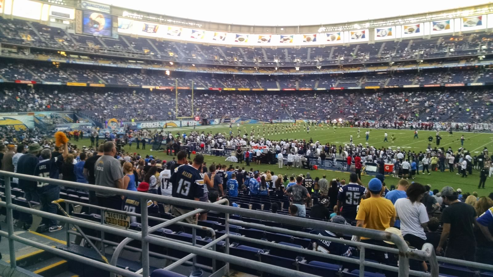 Seat View for Qualcomm Stadium Plaza 39, Row 1, Seat 17