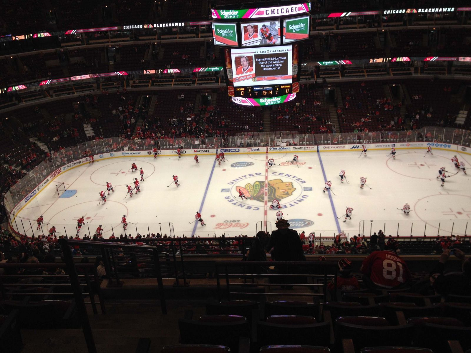 Chicago Blackhawks Seat View for United Center Section 334, Row 13, Seat 19