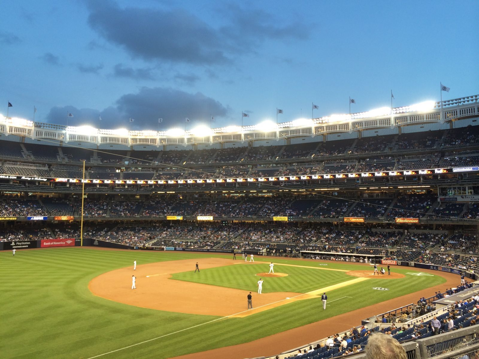 New York Yankees Seat View for Yankee Stadium Section 228, Row 3, Seat 12