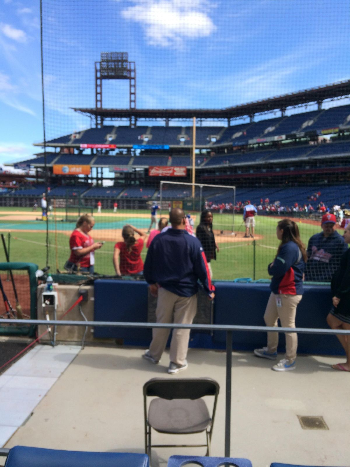 Seat View for Citizens Bank Park Section A, Row 2, Seat 5