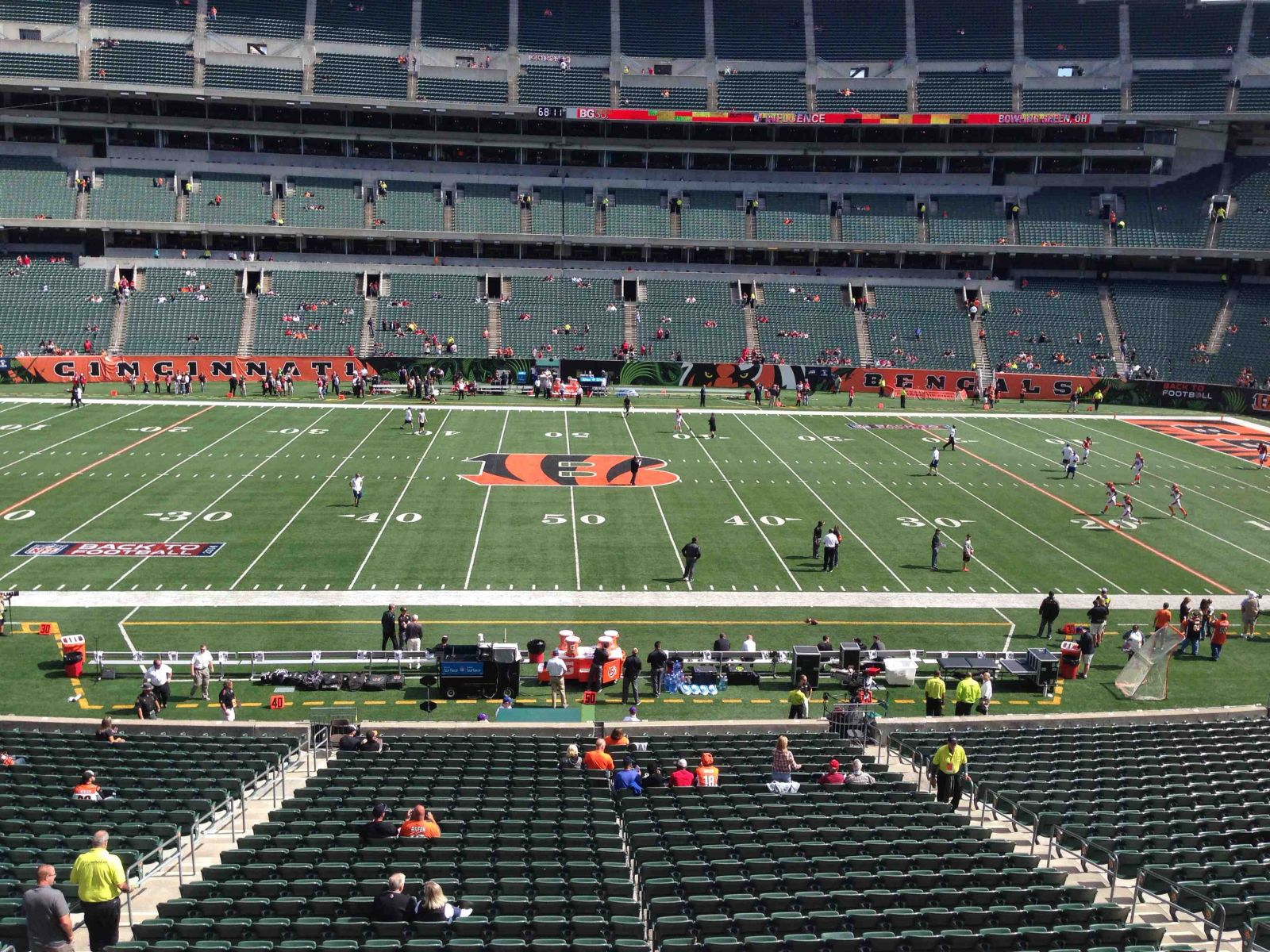 Seat View for Paul Brown Stadium Section 210, Row 1, Seat 10