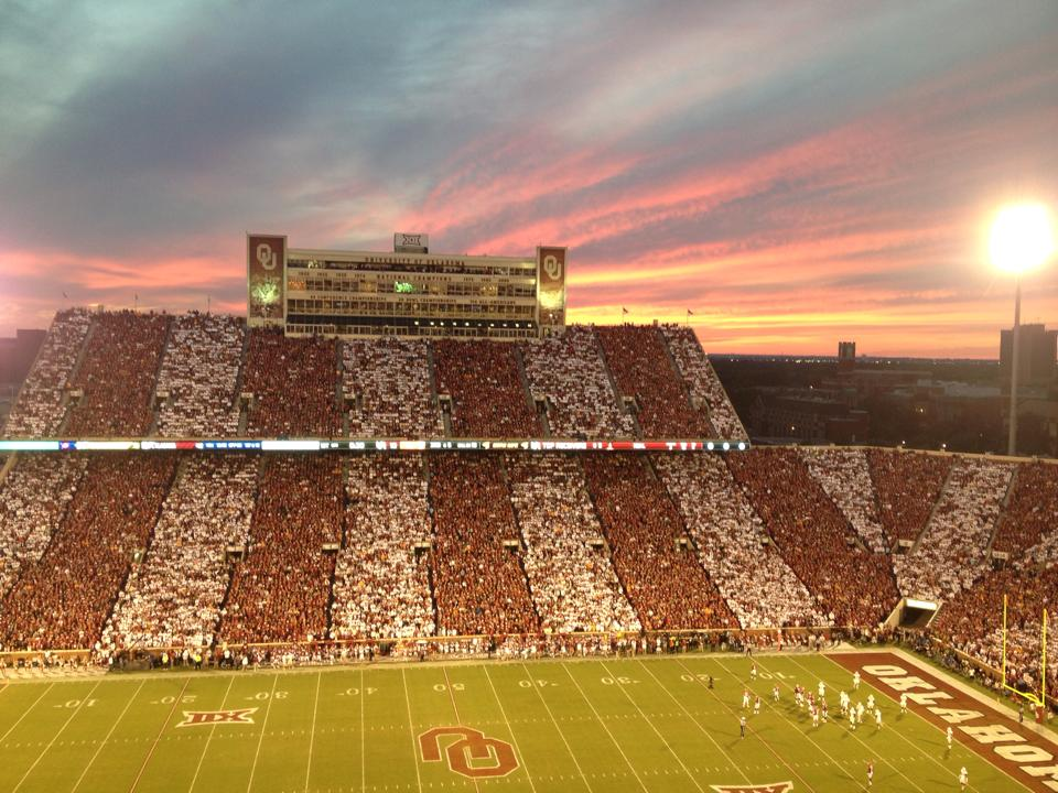 Seat View for Oklahoma Memorial Stadium Section 231, Row 2, Seat 6