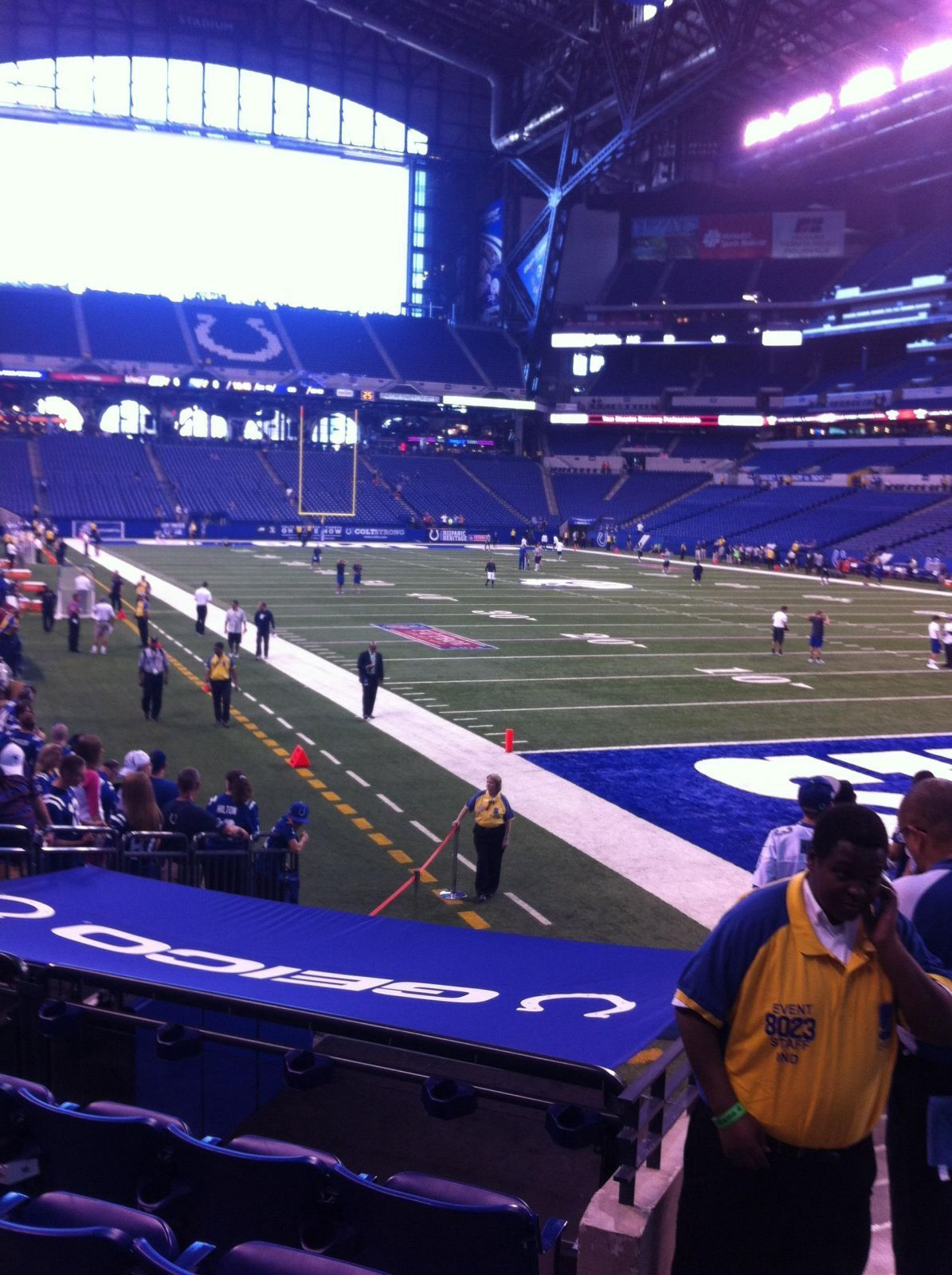 Indianapolis Colts Seat View for Lucas Oil Stadium Section 132, Row 12, Seat 3