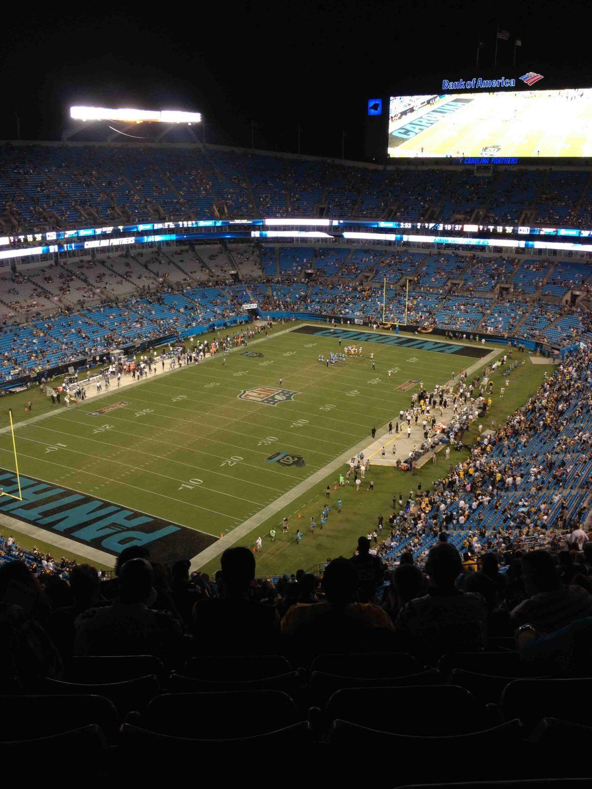 Seat View for Bank of America Stadium Section 523, Row 29, Seat 14
