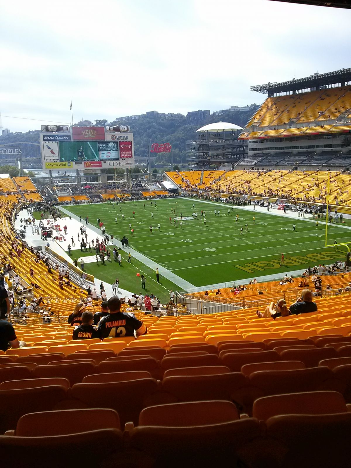 Seat View for Heinz Field Section 219, Row P, Seat 23