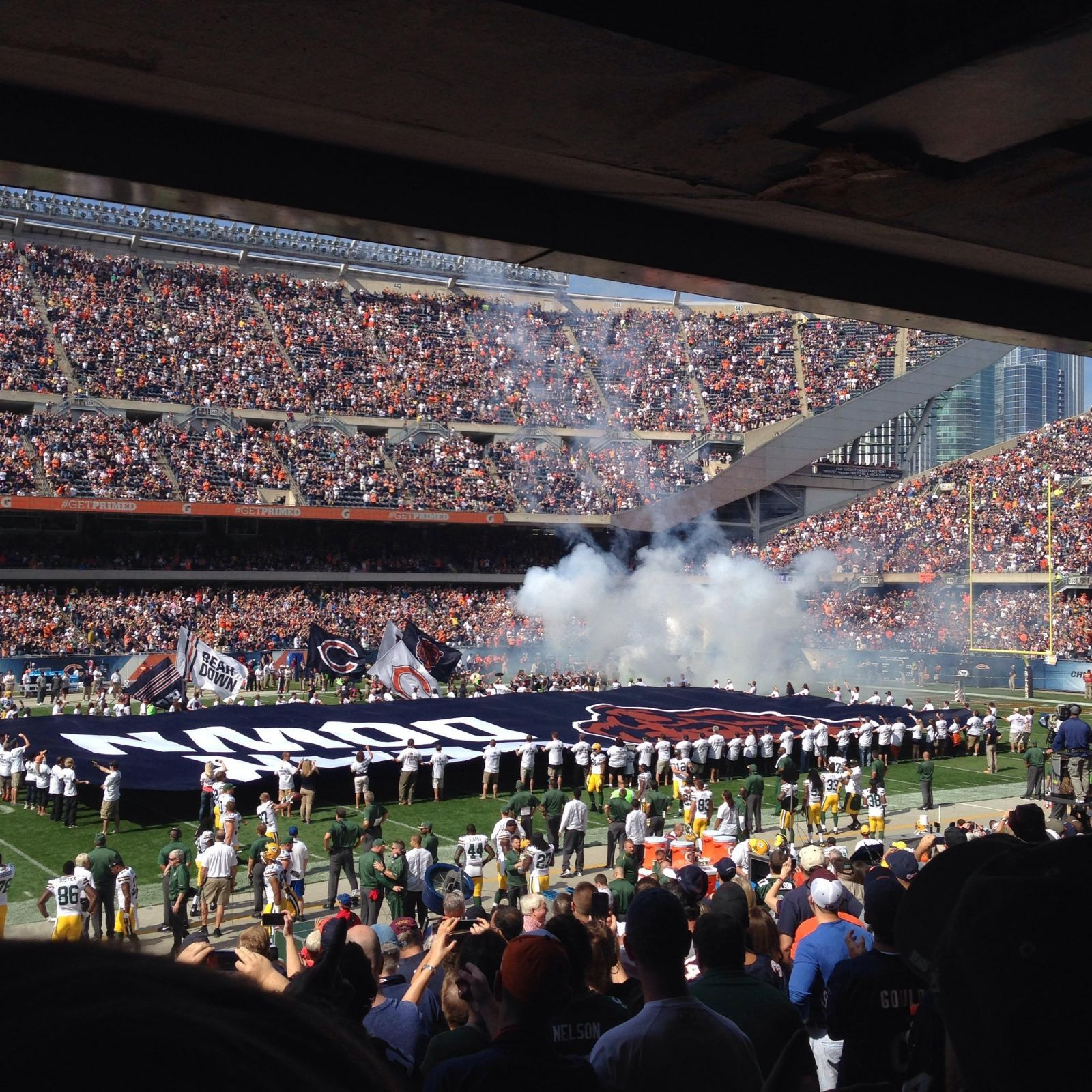 View from Section 111 at Soldier Field