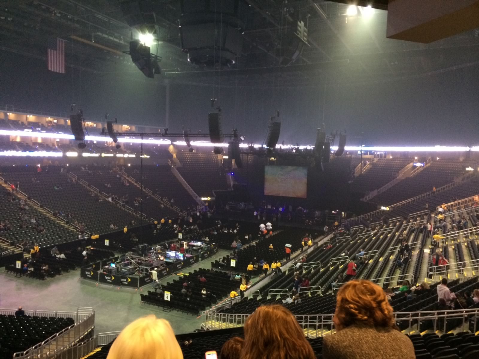 Concert Seat View for Sprint Center Section 120, Row Z