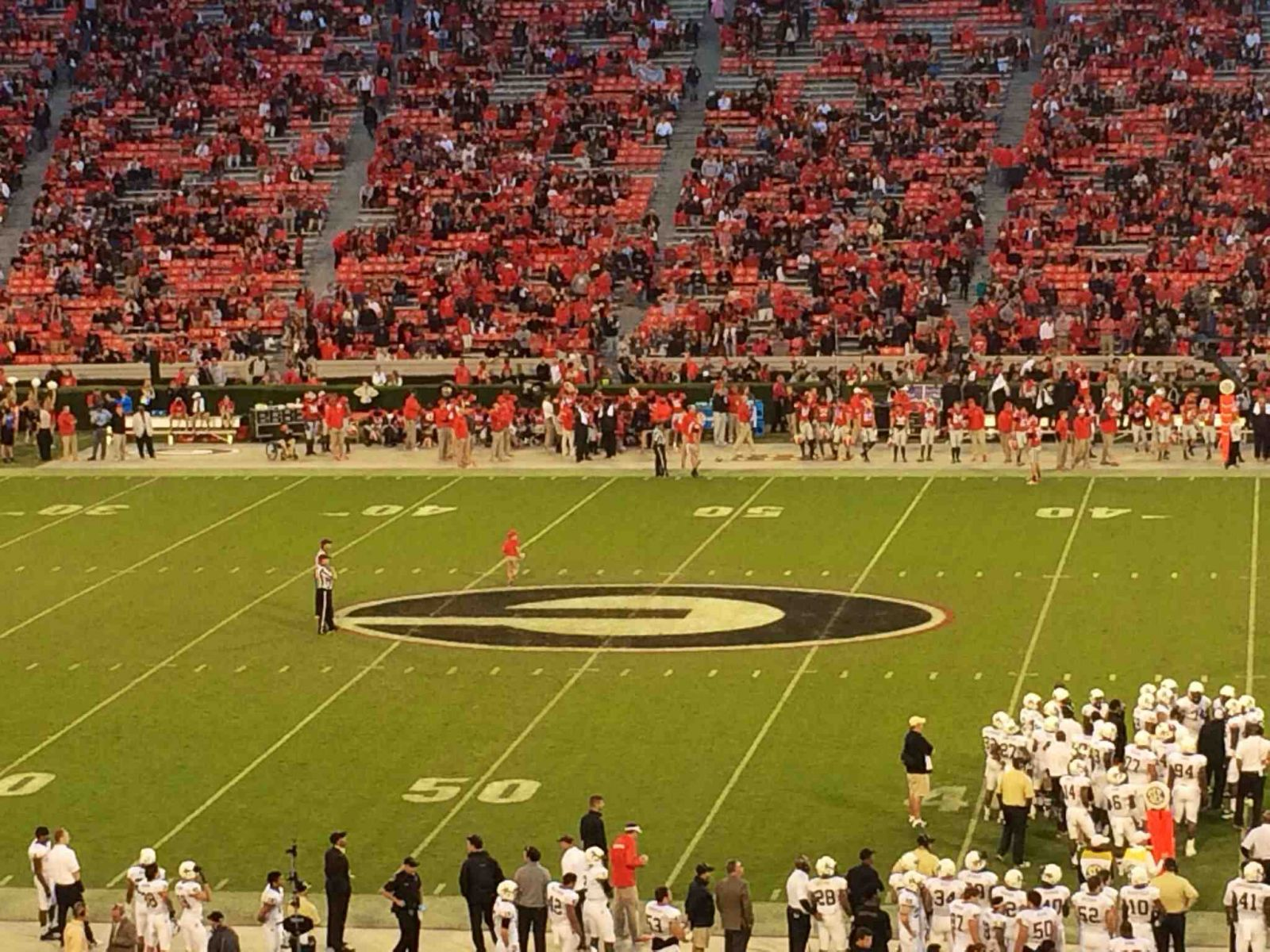 Seat View for Sanford Stadium Section 106, Row 54, Seat 9