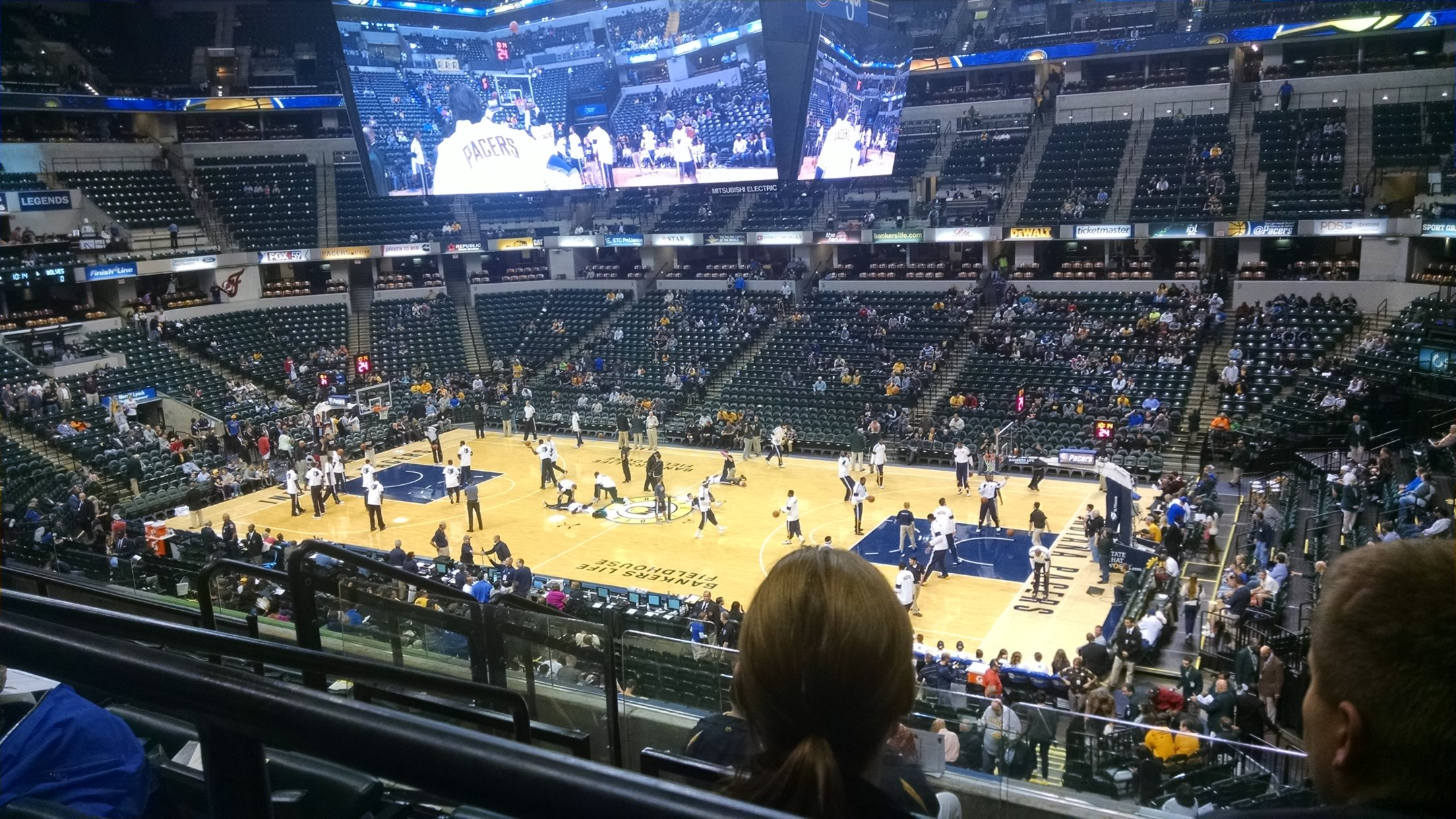 Seat View for Bankers Life Fieldhouse Section 102, Row 6, Seat 8