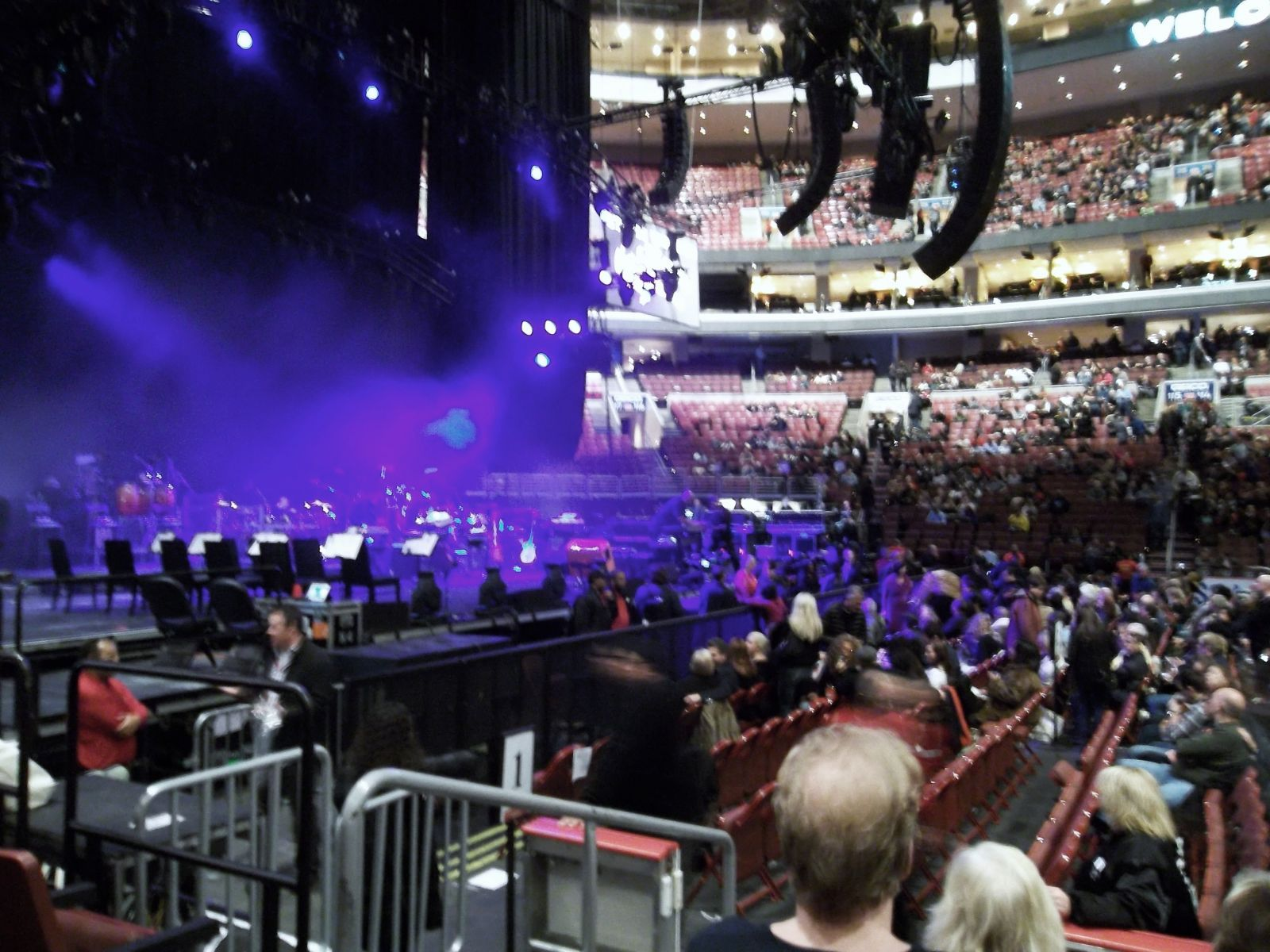 Concert Seat View for Wells Fargo Center Section 124, Row 5, Seat 1